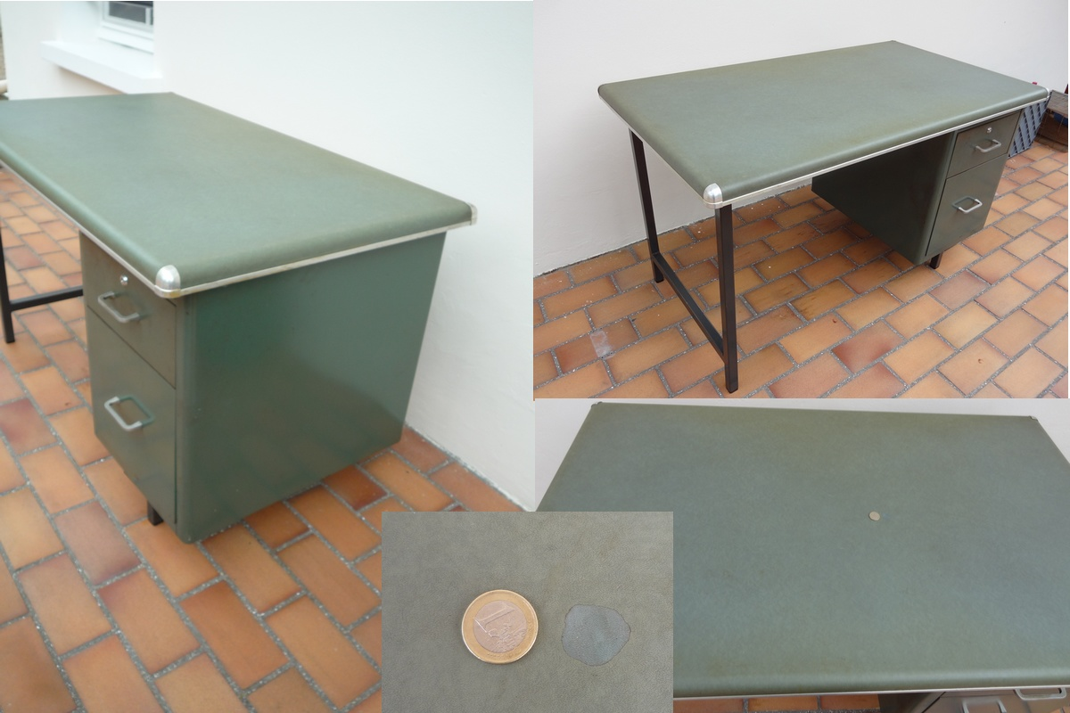 Meubles vintage for Meuble bureau metallique